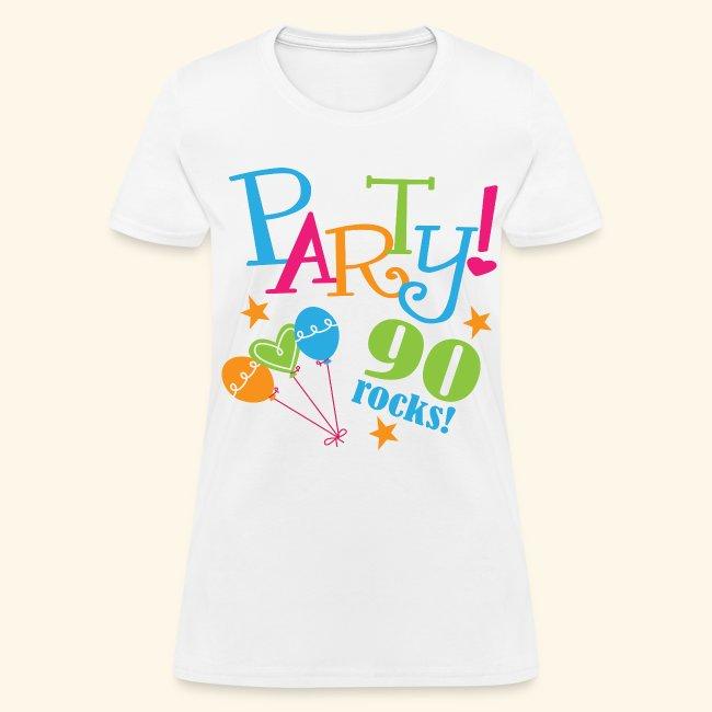 90th Birthday Party Womens T Shirt