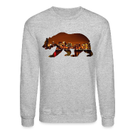 Long Sleeve Shirts ~ Crewneck Sweatshirt ~ Windy City Bear Skyline