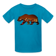 Kids' Shirts ~ Kids' T-Shirt ~ Windy City Bear Skyline