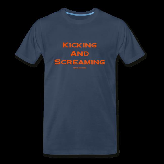 Kicking and Screaming - Mens T-shirt - Big & Tall