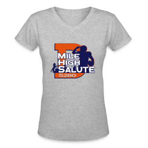 Mile High Salute - Ladies V-Neck - Women's V-Neck T-Shirt