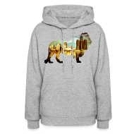 Hoodies ~ Women's Hoodie ~ Detroit Roar Skyline