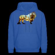 Hoodies ~ Men's Hoodie ~ Detroit Roar Skyline