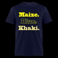 T-Shirts ~ Men's T-Shirt ~ Maize. Blue. Khaki.
