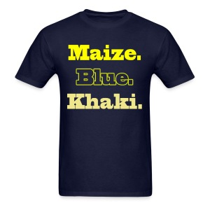 Maize. Blue. Khaki. - Men's T-Shirt