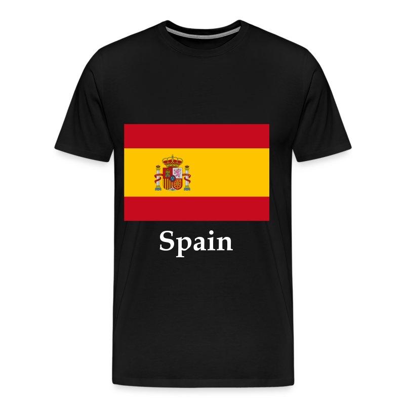 Spain flag t shirt spreadshirt for Spain polo shirt 2014