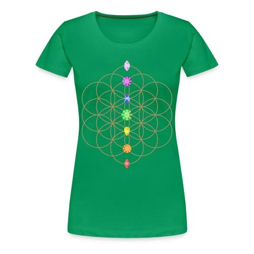 Flower Of Life Chakra T-SHIRT - Women's Premium T-Shirt
