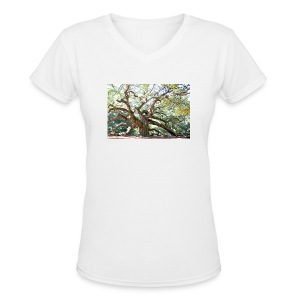 Angel Oak Tree T Shirt - Women's V-Neck T-Shirt