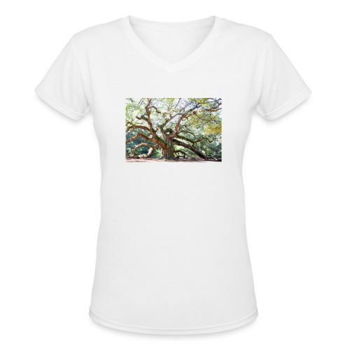 Angel Oak Tree T Shirt - Women's V-Neck T-Shirt