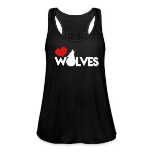Love Wolves Flowy Tank Top - Women's Flowy Tank Top by Bella