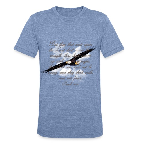 Wings as Eagle Christian - Unisex Tri-Blend T-Shirt by American Apparel