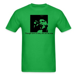 Torn in two - green crew neck - Men's T-Shirt