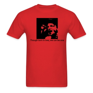 Torn in two - red crew neck - Men's T-Shirt