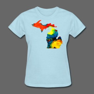 Michigan Super Man Ice Cream State - Women's T-Shirt