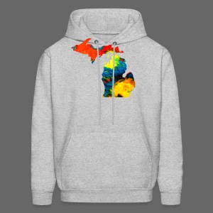 Michigan Super Man Ice Cream State - Men's Hoodie