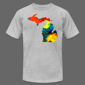 Michigan Super Man Ice Cream State - Men's T-Shirt by American Apparel