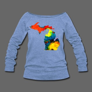 Michigan Super Man Ice Cream State - Women's Wideneck Sweatshirt