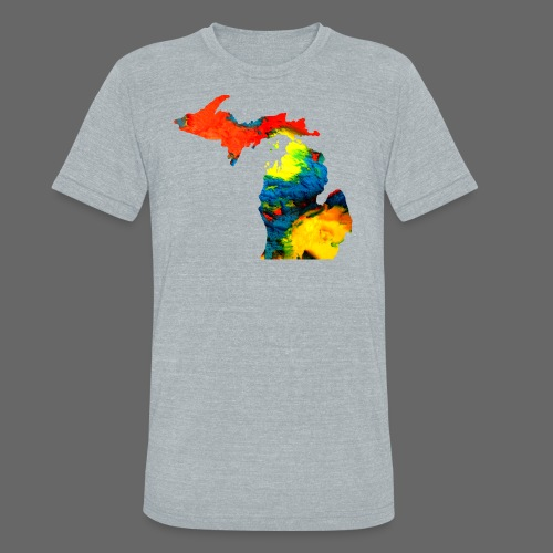 Michigan Super Man Ice Cream State - Unisex Tri-Blend T-Shirt by American Apparel