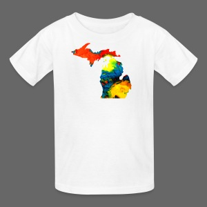 Michigan Super Man Ice Cream State - Kids' T-Shirt