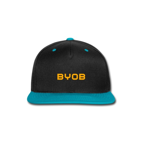 BYOB NEON Orange Snapback - Snap-back Baseball Cap