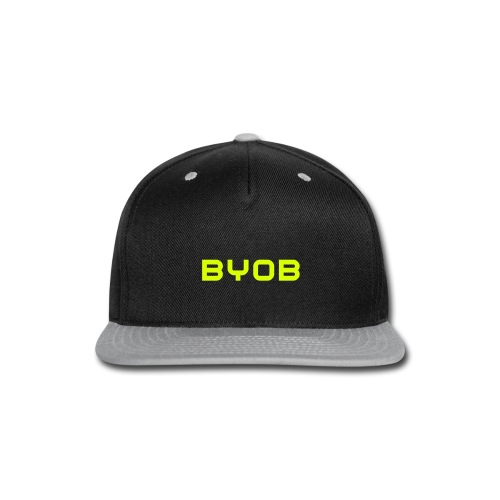 BYOB NEON Yellow Snapback - Snap-back Baseball Cap