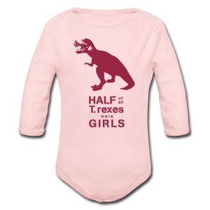 T.rex Long Sleeved   - Long Sleeve Baby Bodysuit
