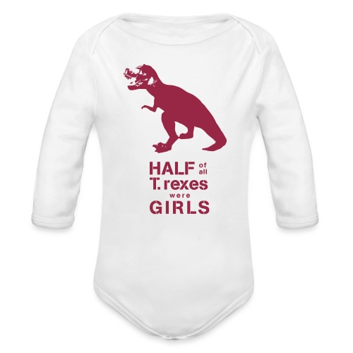T.rex Long Sleeved   - Organic Long Sleeve Baby Bodysuit