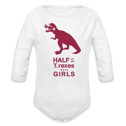 T.rex Long Sleeved   - Organic Long Sleeve Baby Bodysuit