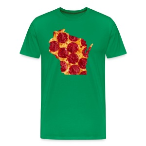 Pizza Wisconsin - Men's Premium T-Shirt