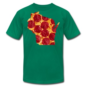 Pizza Wisconsin - Men's T-Shirt by American Apparel