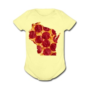 Pizza Wisconsin - Short Sleeve Baby Bodysuit