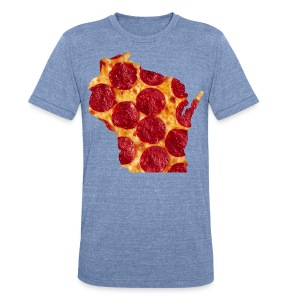 Pizza Wisconsin - Unisex Tri-Blend T-Shirt by American Apparel