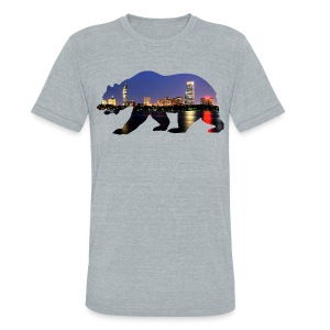 Bruin Skyline - Unisex Tri-Blend T-Shirt by American Apparel