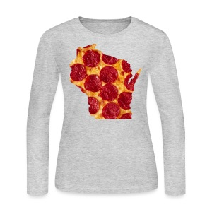 Pizza Wisconsin - Women's Long Sleeve Jersey T-Shirt