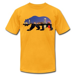 Bruin Skyline - Men's T-Shirt by American Apparel
