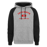 Hoodies ~ Colorblock Hoodie ~ True North Strong and Free