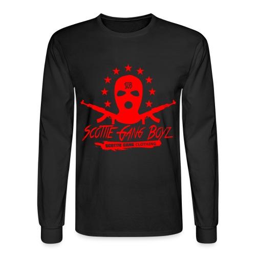 Black Red SGB Long Tee - Men's Long Sleeve T-Shirt