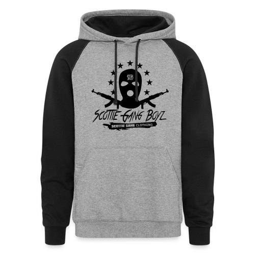 Black Grey SGB HOODIE - Colorblock Hoodie