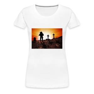 Astronaut and graveyard - Women's Premium T-Shirt