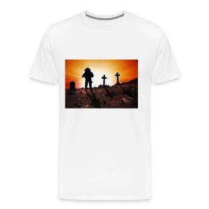 Astronaut and graveyard - Men's Premium T-Shirt