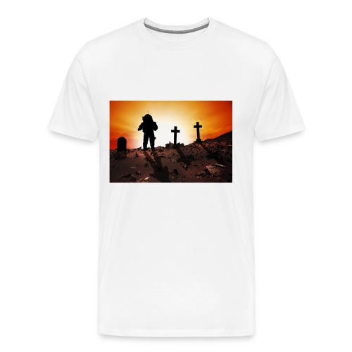 Astronaut and graveyard - Men's Premium T-Shirt