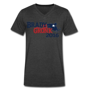 Vote Brady Gronk 2016 - Men's V-Neck T-Shirt by Canvas