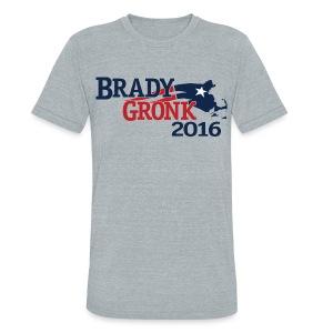 Vote Brady Gronk 2016 - Unisex Tri-Blend T-Shirt