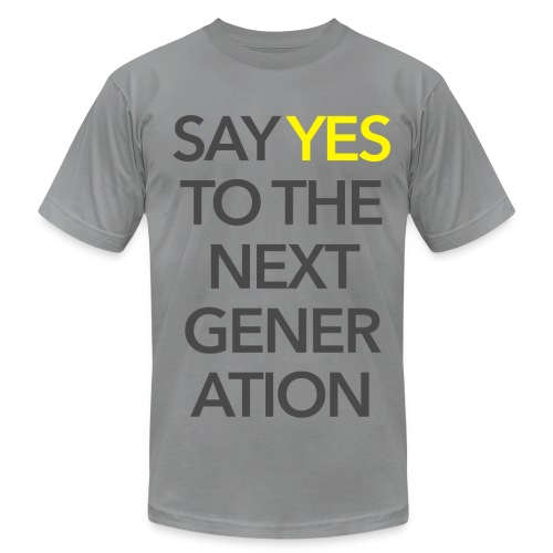 2015 Say Yes GHKids Theme - Choose Color - Gray + Yellow - Men's Fine Jersey T-Shirt