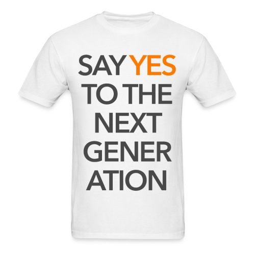 2015 Say Yes GHKids Theme - Choose Color - Gray+Orange - Men's T-Shirt