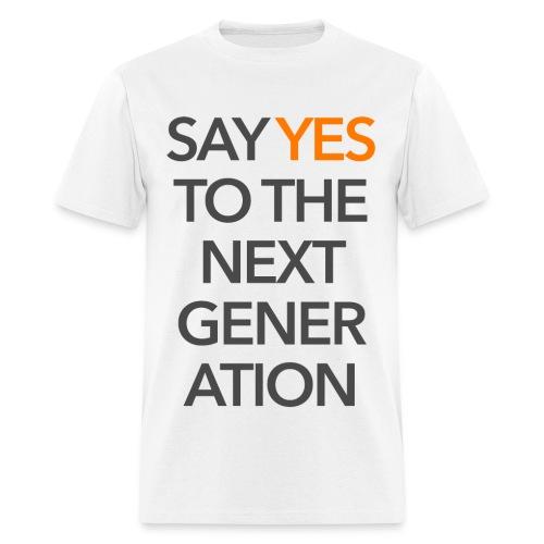 2015 Say Yes GHKids Theme - Choose Color - Gray+Orange - Men's T-Shirt