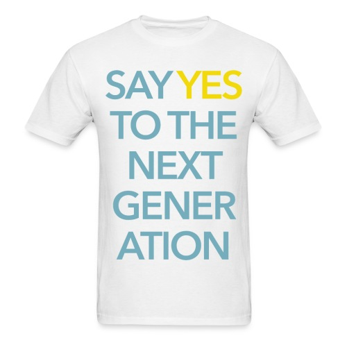 2015 Say Yes GHKids Theme - Choose Color - Teal+Yellow - Men's T-Shirt