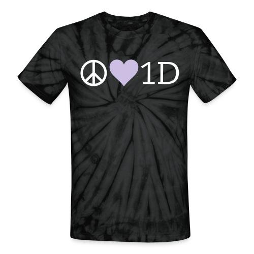 Peace Love 1D Unisex Tie Dye Tee - Unisex Tie Dye T-Shirt