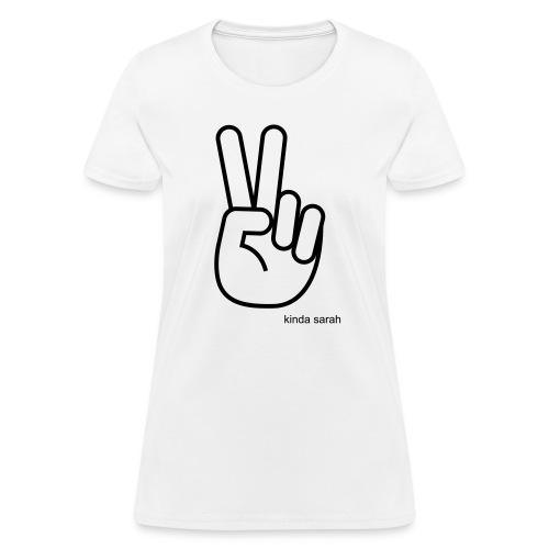 WOMANS Kinda Sarah Peace Tee - Women's T-Shirt