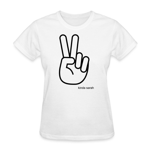 WOMANS Kinda Sarah Peace Tee - Women's T-Shirt